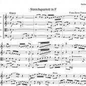 Streichquartett F 1